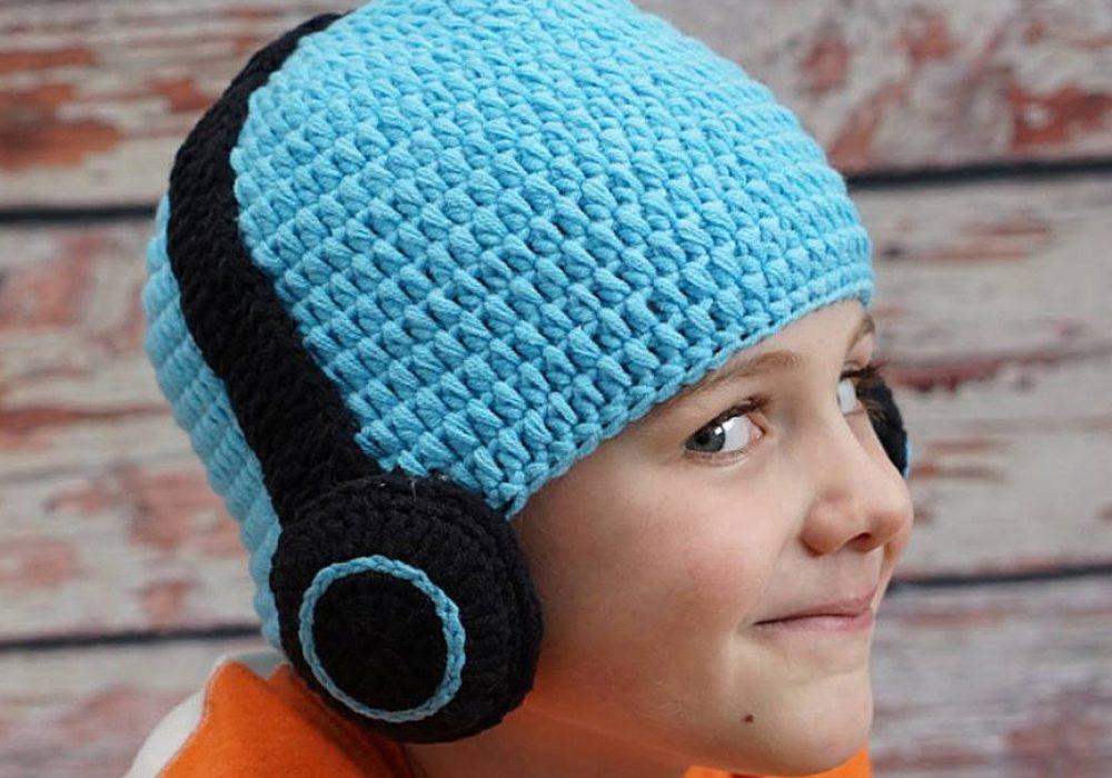 Hug A Bug Kids Crocheted Headphone Hat Buy Gift for Kids