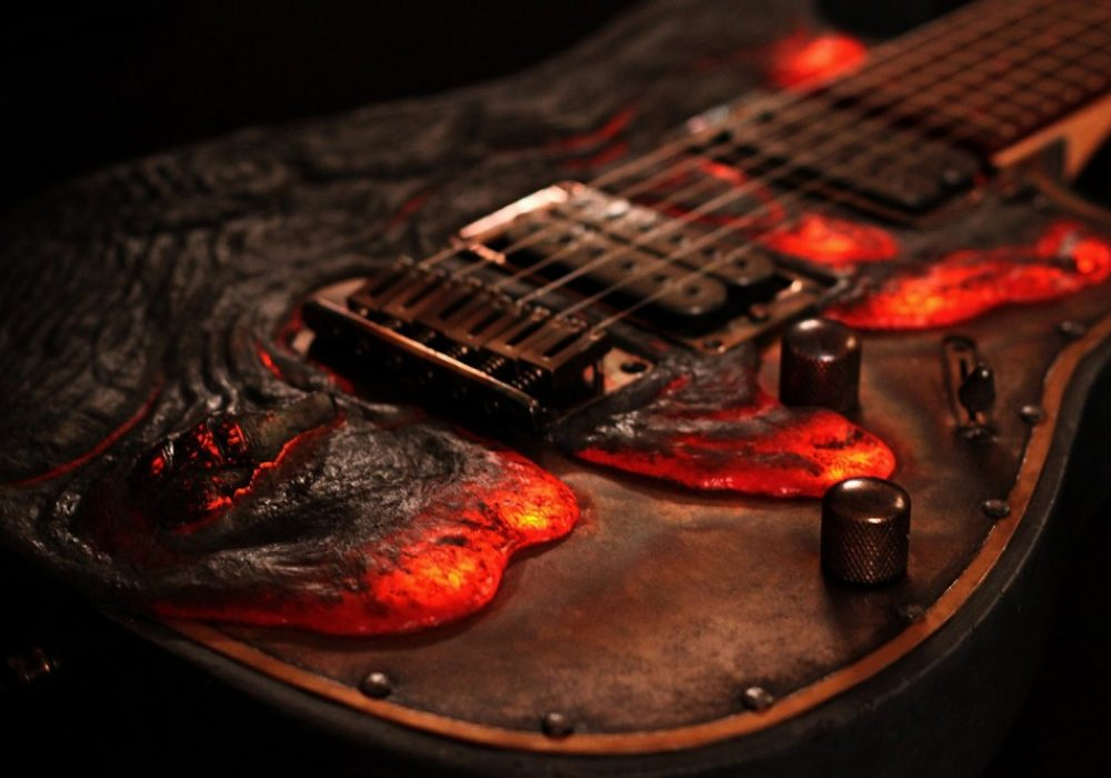 Hutchinson Guitars Molten Diabolic Guitar Cool Gift to Buy for Musicians