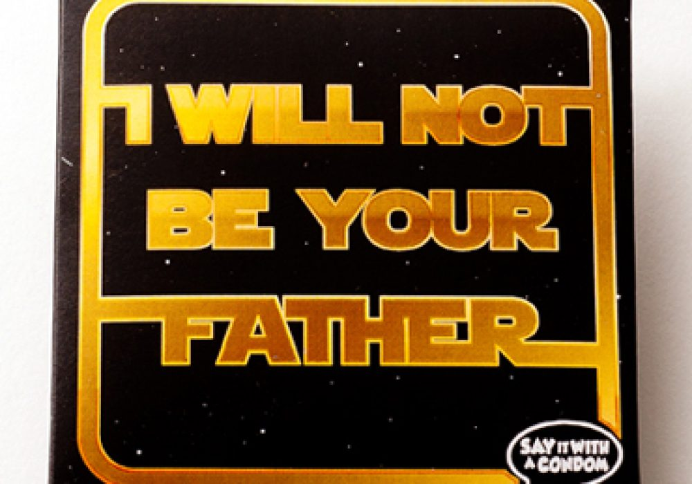 I Will Not Be Your Father Condom Star Wars Funny Gift Idea