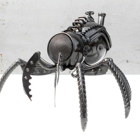 IGORIGO Metal Steampunk Spider Sculpture