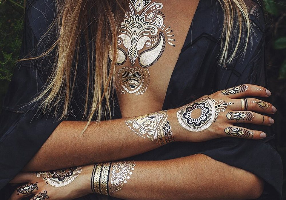 Iamu Collective Premium Metallic Henna Tattoos Gift Idea