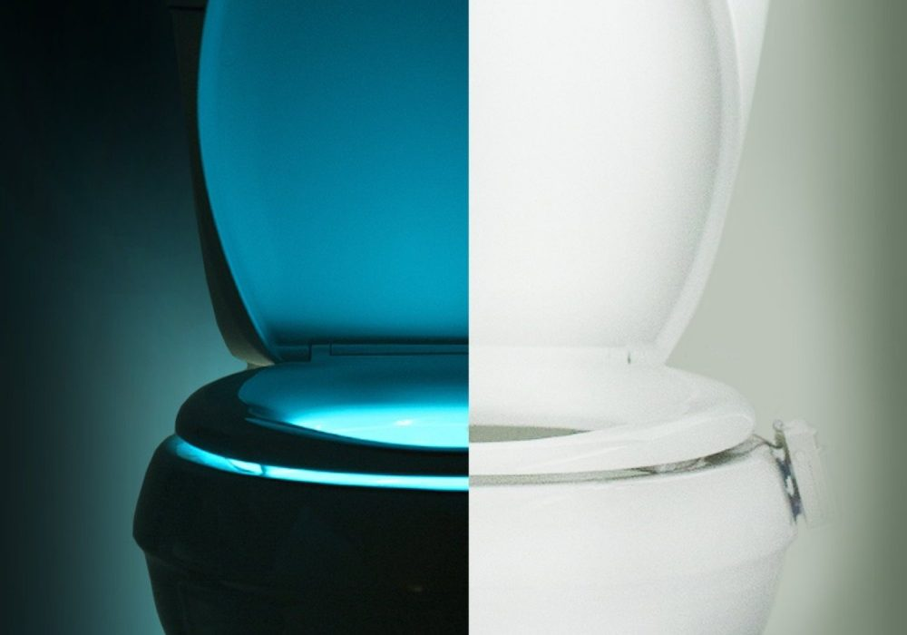 IllumiBowl Motion Activated Toilet Night Light Cool Houswarming Gift to Buy