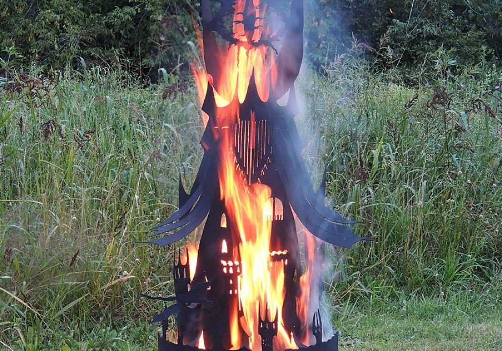 Imagine Metal Art Fire Pit Eye Tower Made to Order