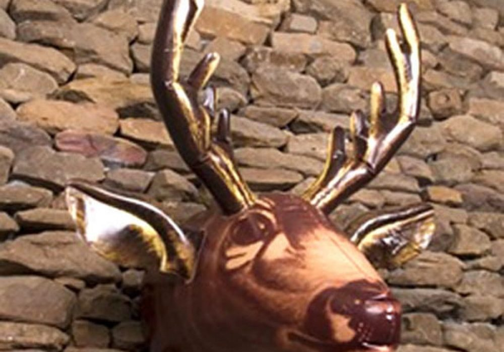 Inflatable Moose Head Hanger Man Cave Decoration Funny HuntingTrophy