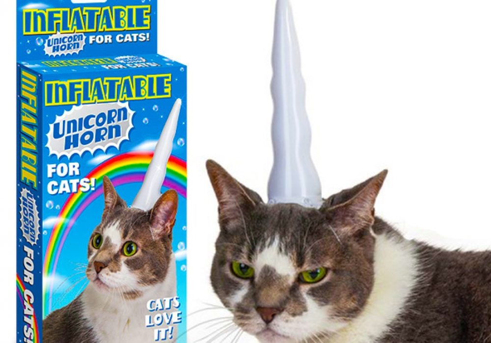 Inflatable Unicorn Horn for Cats Cool Gift Ideas