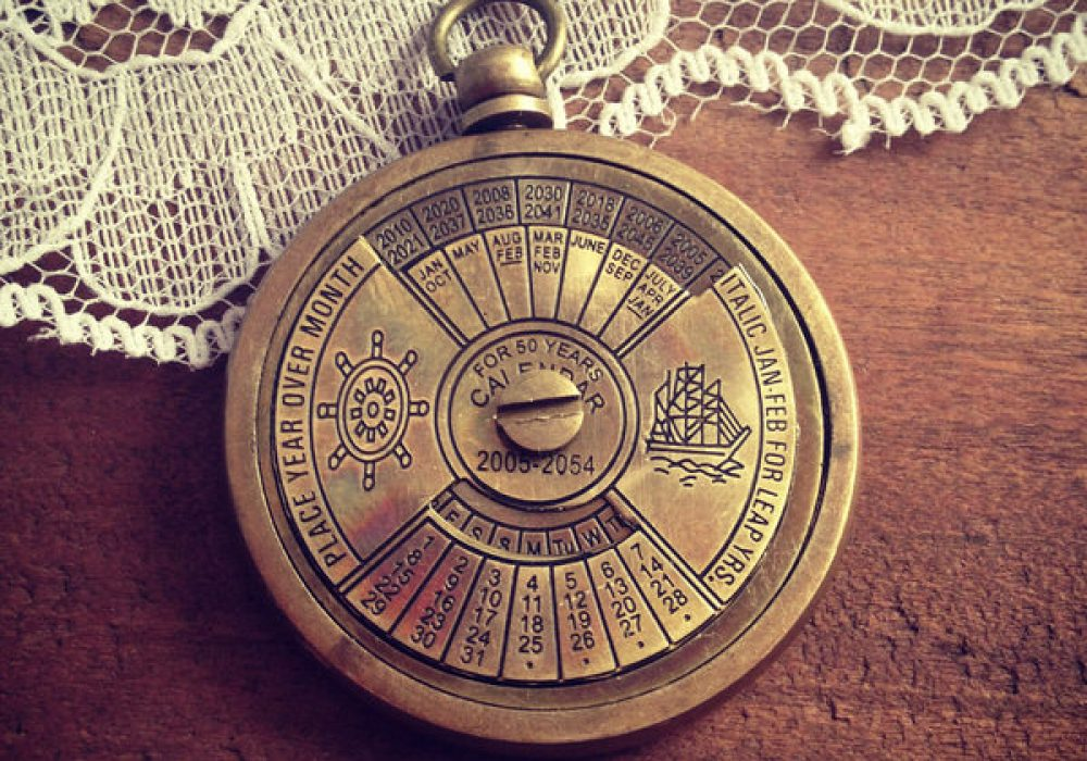 Ingredients for Lovely 1 - 50 Year Perpetual Calendar Pendant Antique Look