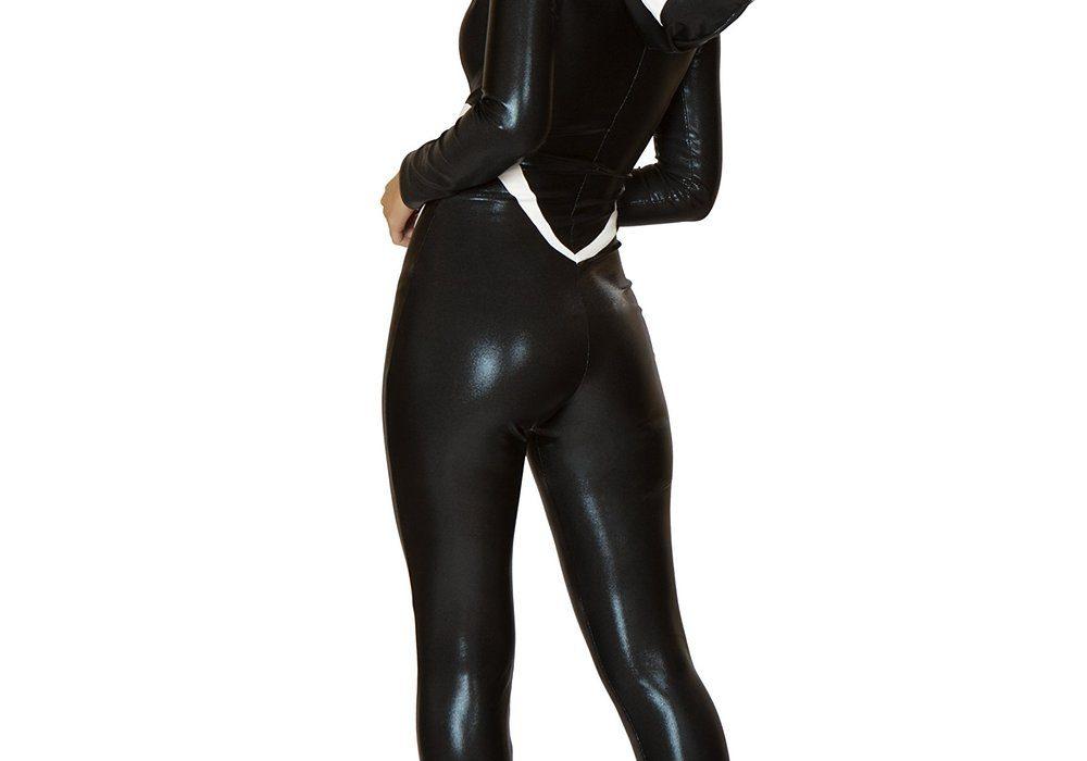J. Valentine Womens Arachnid Babe Catsuit Costume Venom Hoodie for Her