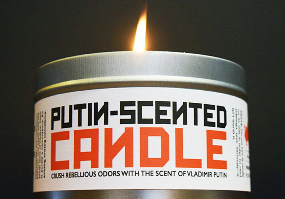 JD and Kate Industries Putin-Scented Candle Manly Fragrance