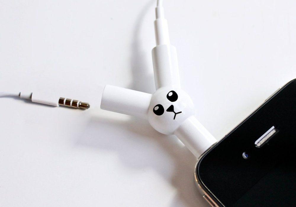 Jack Rabbit Headphone Splitter One iPhone Two Headphones