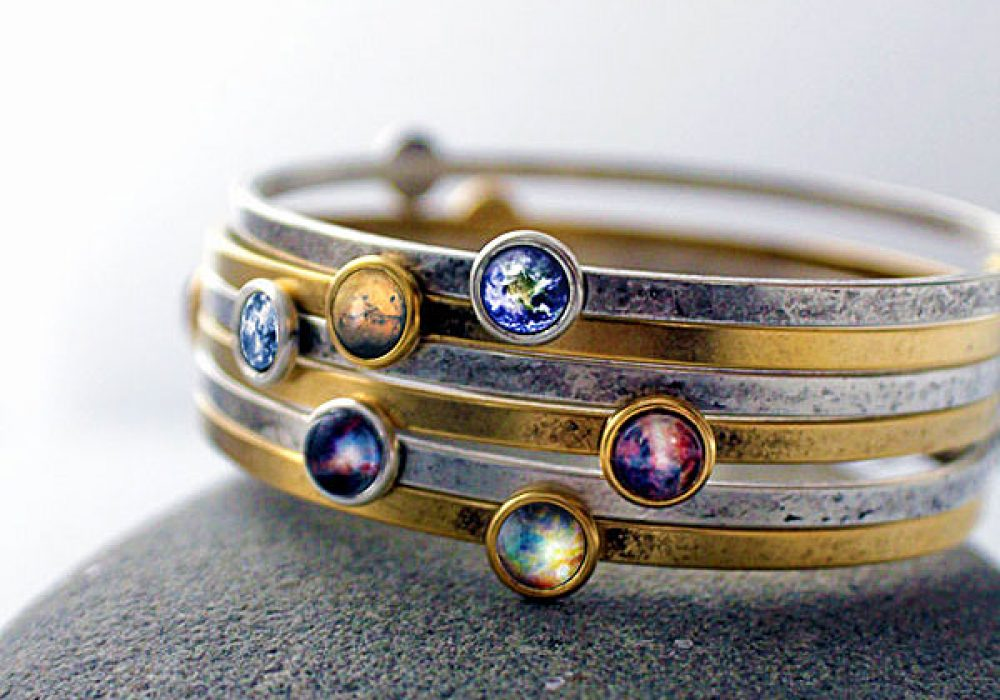 Jerseymaids Galaxy Space Bracelet Unique Gift for Her