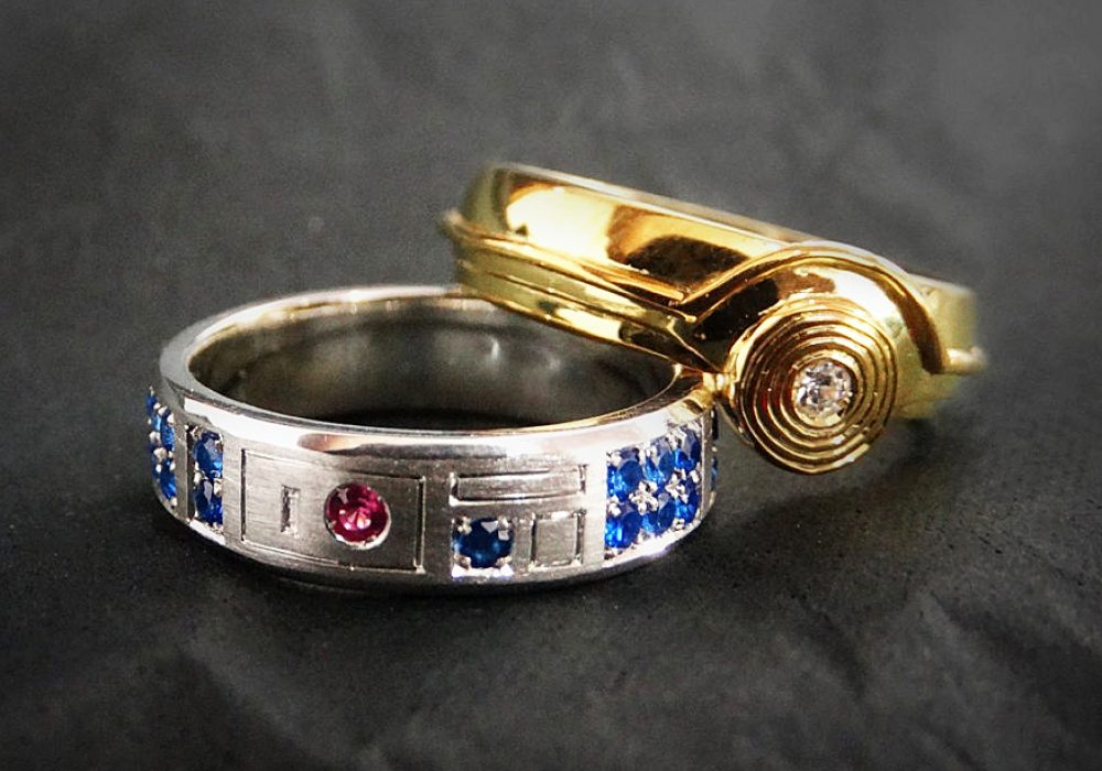 Juan Hidalgo Androids Wedding Rings Geek Jewelry