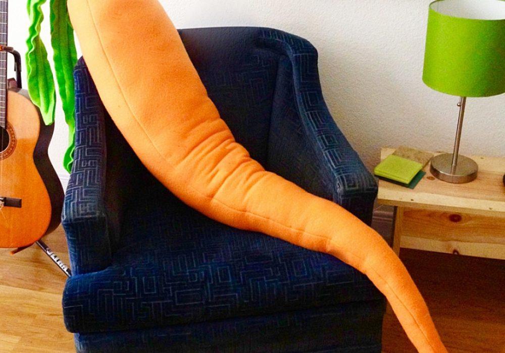Jumbo Jibbles Giant Carrot Body Pillow Gift Idea For Her