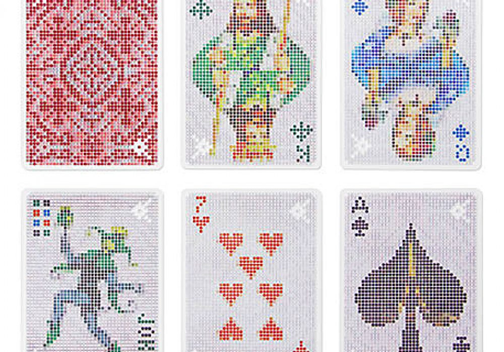 Kikkerland Pixel Playing Cards Buy Cool Stuff Online