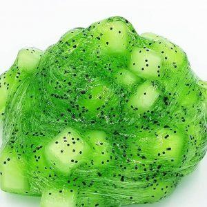 Kiwi Slime Clear Jelly Cube Slime