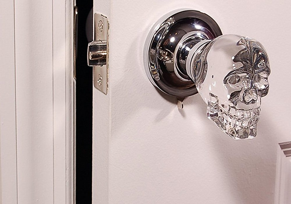 Krystal Touch Skull Passive Doorknob LED Backlight