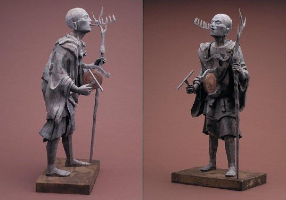 Kuya Japanese Priest Papercraft Model Kit Historical Statue