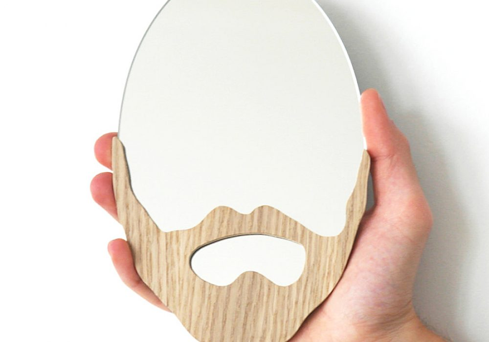 LAtelier Virgile Wood Beard Mirror Handmade