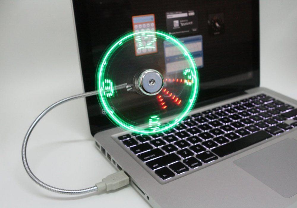 LED Fan Clock Neon Colors