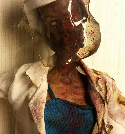 Lab Tech Zombie Barbie Doll