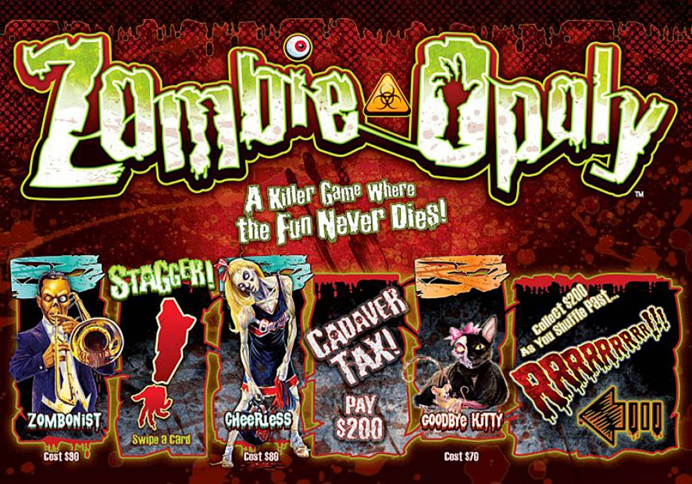 Late for the Sky Zombie-Opoly Board Game Classic