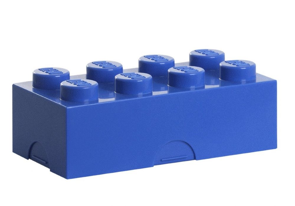 Lego Bento Lunch Box Blue Cute Buy Gift Idea for Him