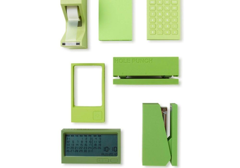 Lexon Buro Desk Accessories Set Green Red Dot Award Design Winner