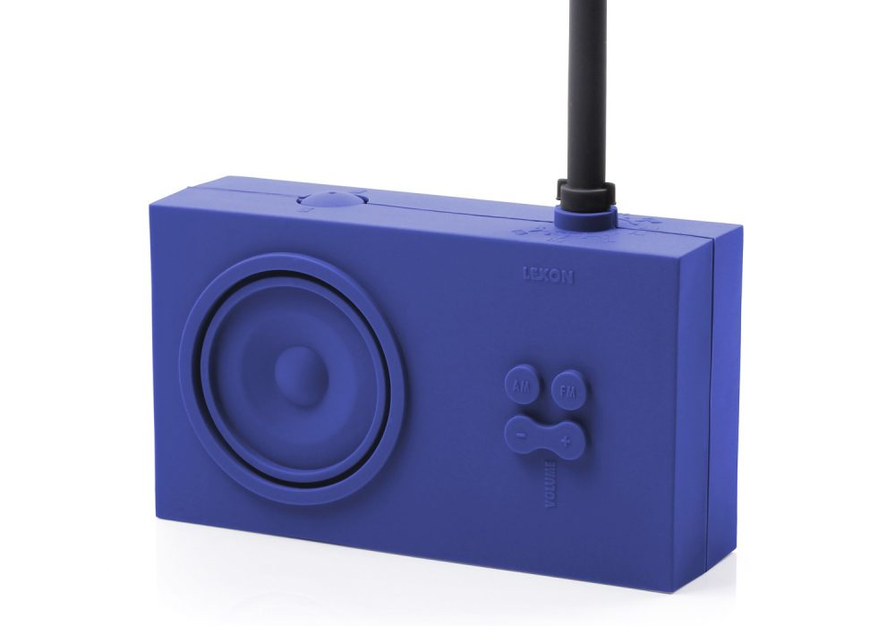 Lexon Tykho Rubber Radio Blue Simple Gift for Him