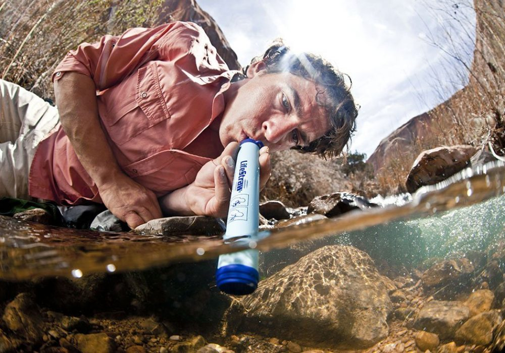 Lifestraw Portable Water Filter Drink Outdoors