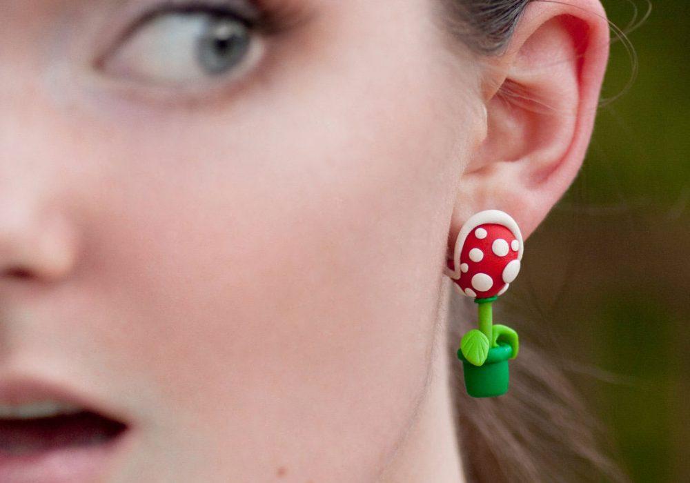 Lizglizz Piranha Plant Earrings Cute Stuff to Buy Her