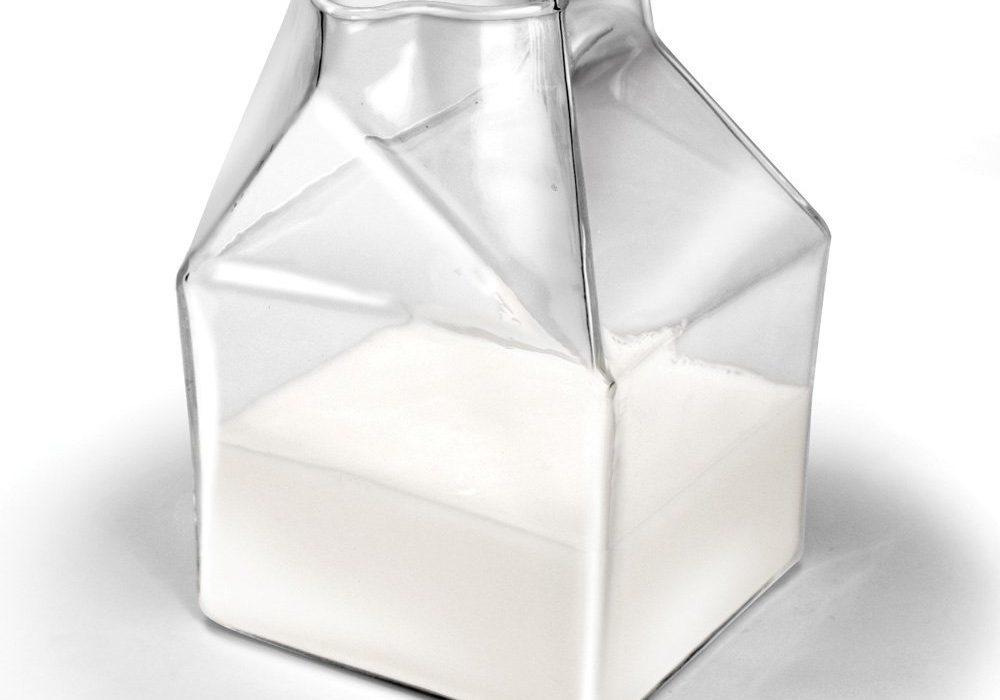 Locomo Life Half Pint Glass Milk Carton Nostalgic