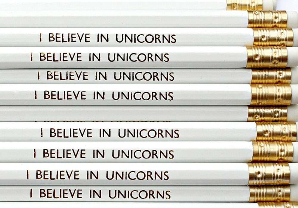 Lucy Made Me I Believe In Unicorns Pencil School Supply