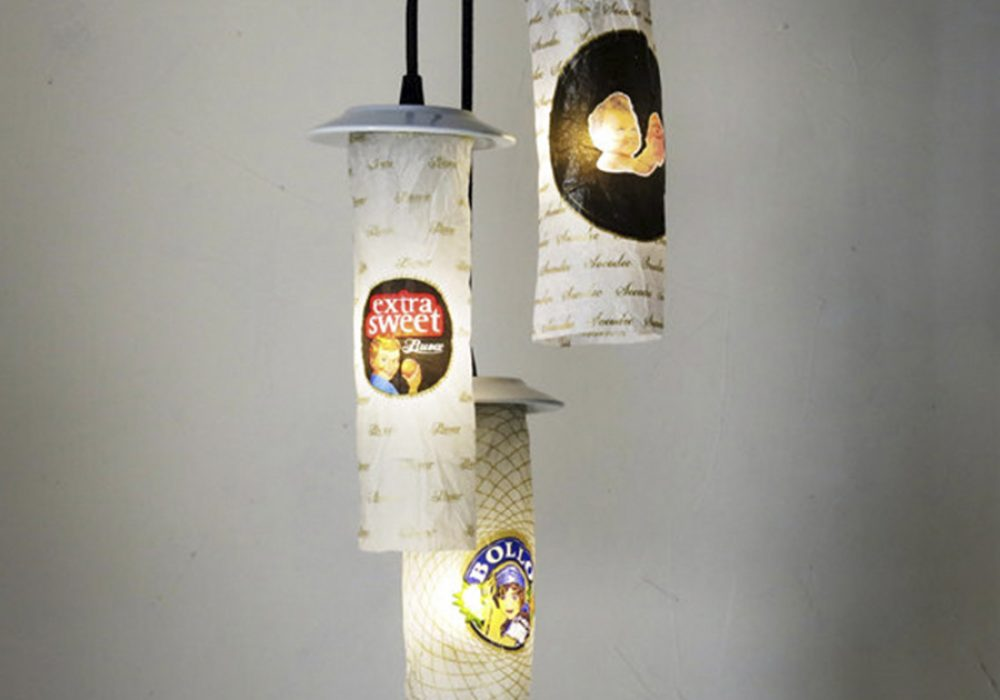 Lumpo Luminaires Wrapping Paper Ceiling Lamp Home Interior Deisgn