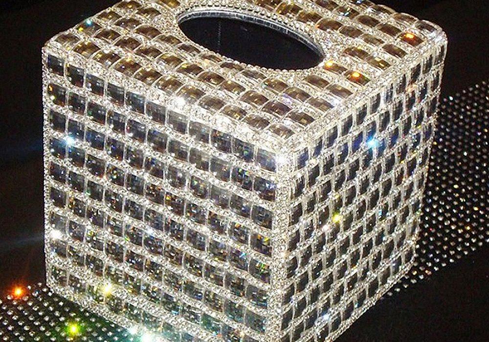 Luxury Tissue Box Holder Bath