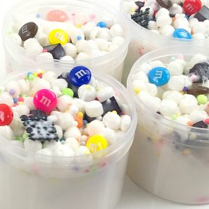 M&M Trail Mix Floam Slime with Charms