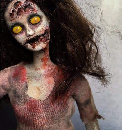 Macabre OOAK Barbie Art Doll