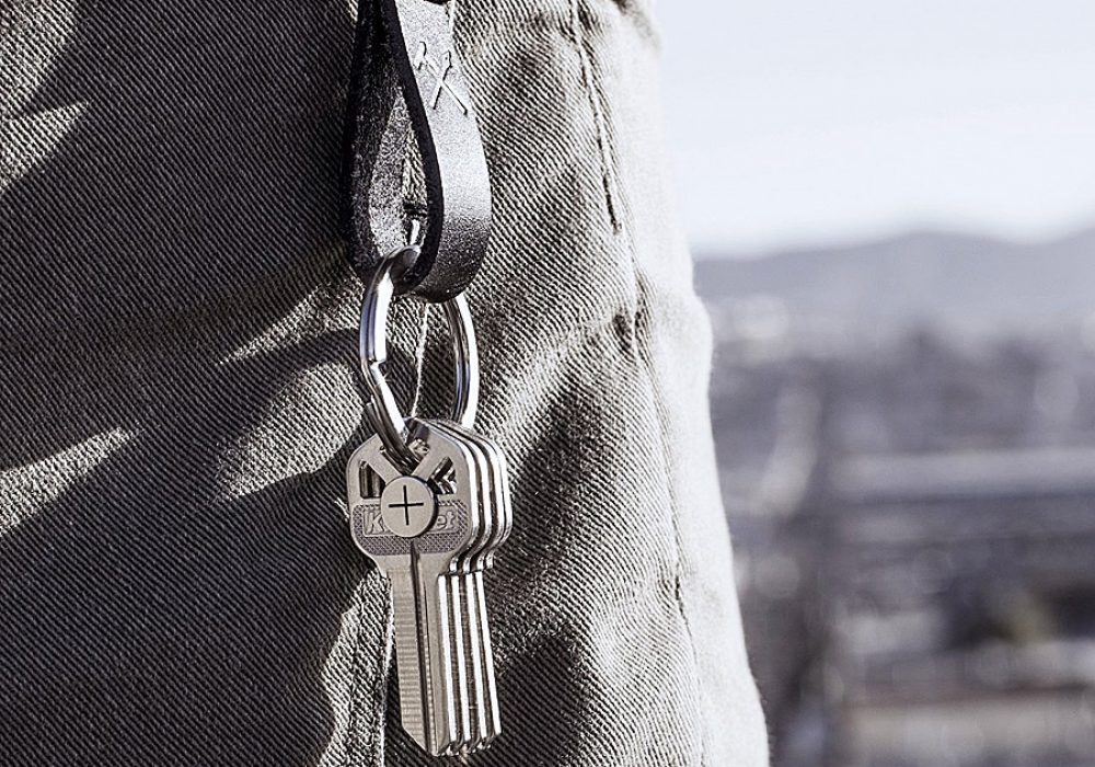 Magkey Stainless Steel Magnet Keychain Ring Key Organizer