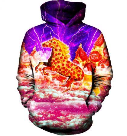 Men Hoodies & Sweatshirts Majestic Pizza Horse