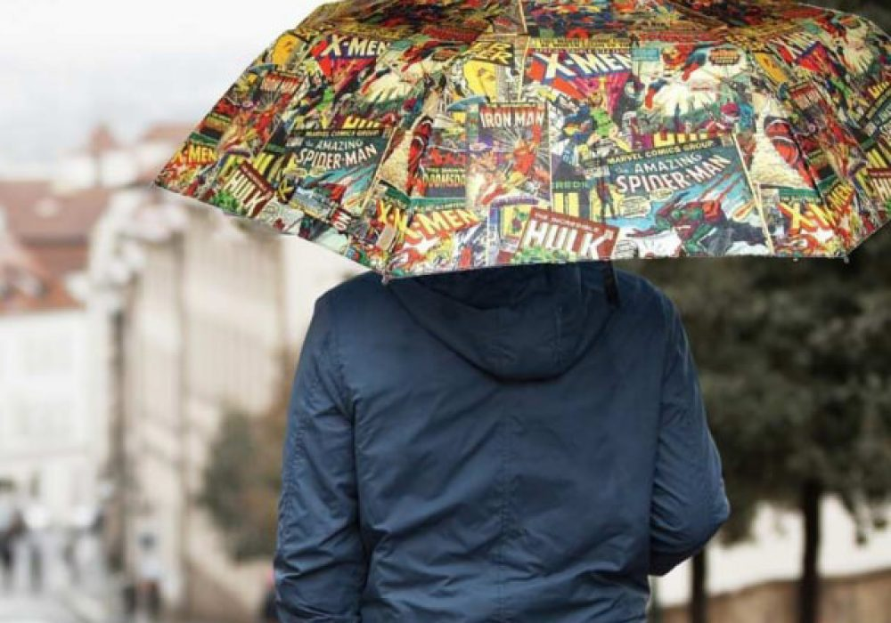 Marvel Comic Book Umbrella Cool Geek Gift Idea