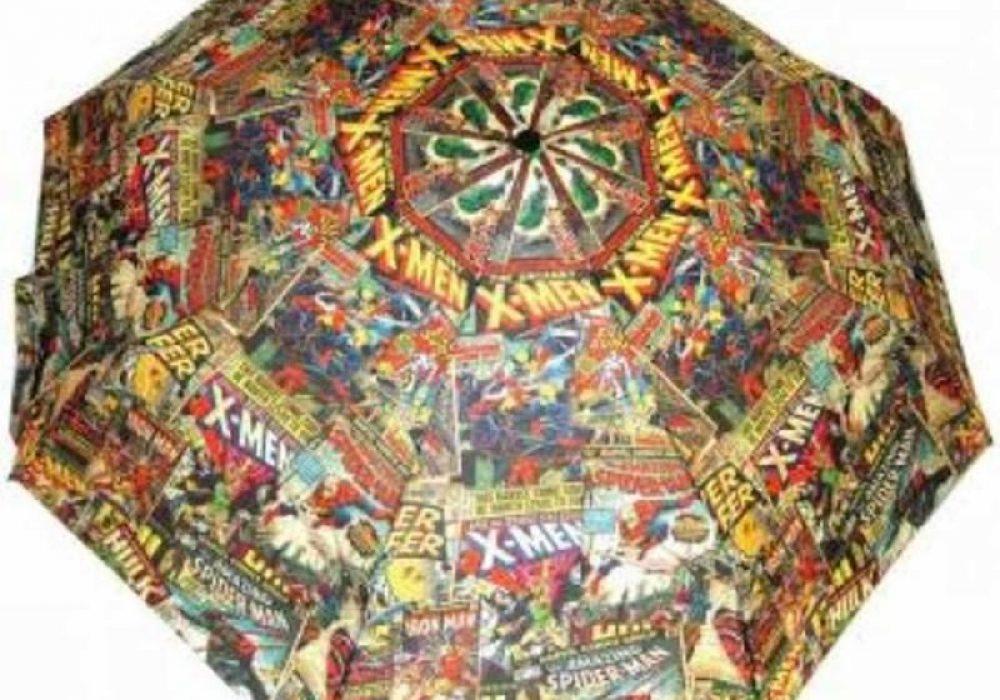 Marvel Comic Book Umbrella Geek Fashion