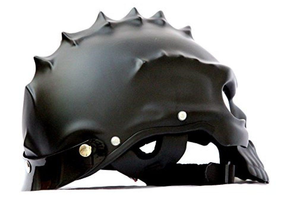 Masei Matt Black 3D Skull Helmet Cool Spiky Skull
