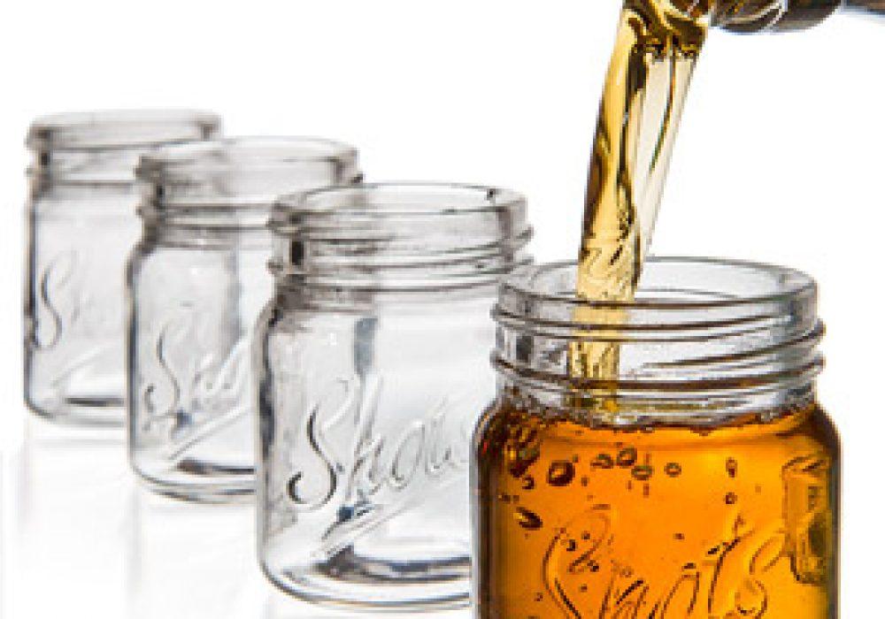 Mason Jar Shot Glass Line Up