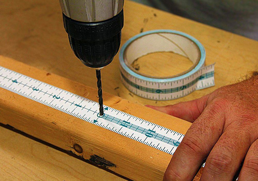 Measure It Adhesive Measuring Tape DIY Drilling