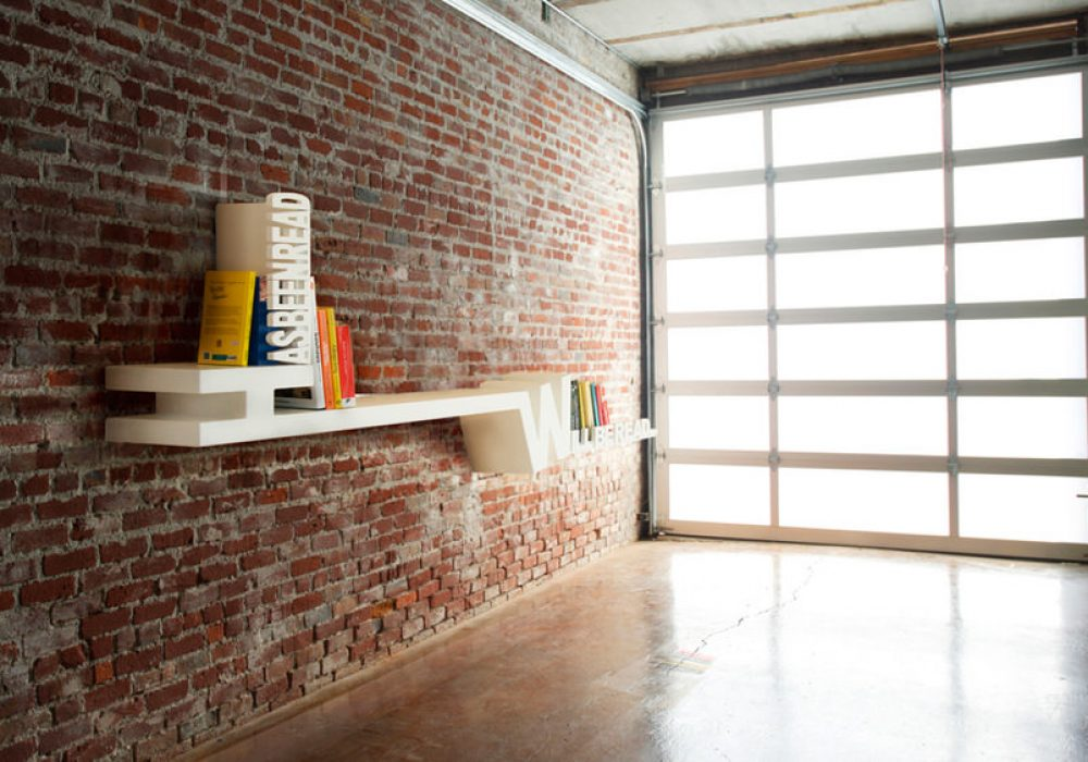 Meb Rure Typographic Bookshelf Cool Garage