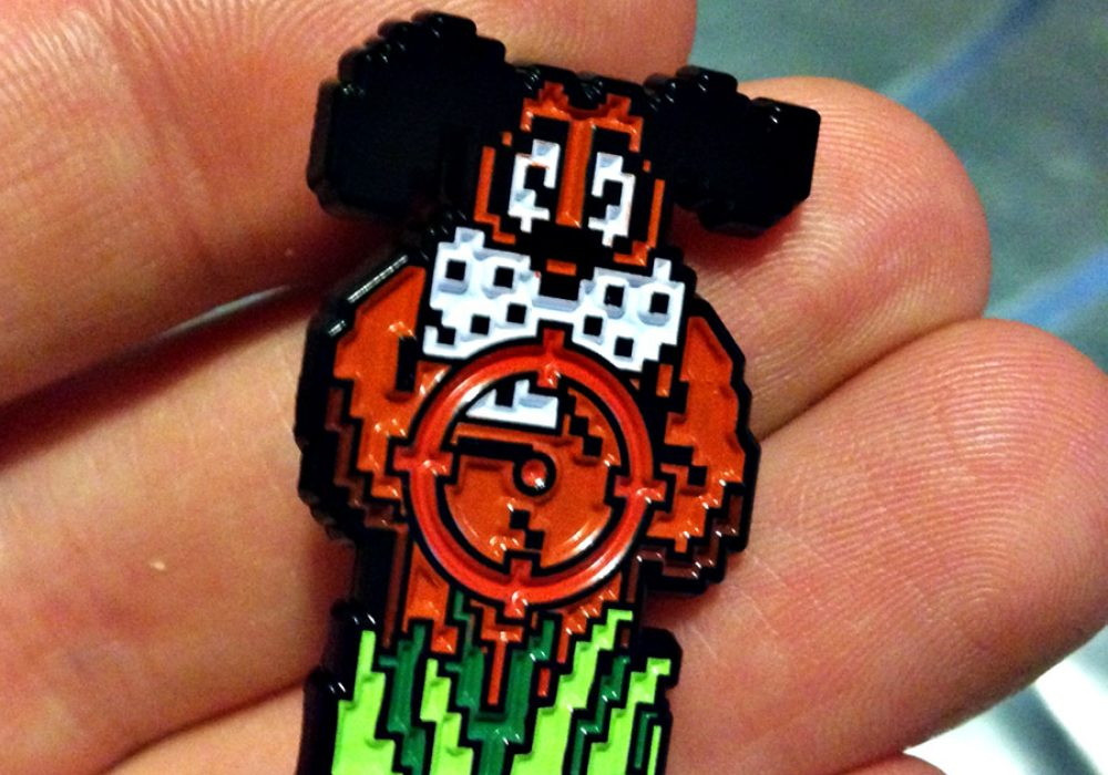 Meet Your Marker Duck Hunt Shoot the Laughing Dog Lapel Pin Pins