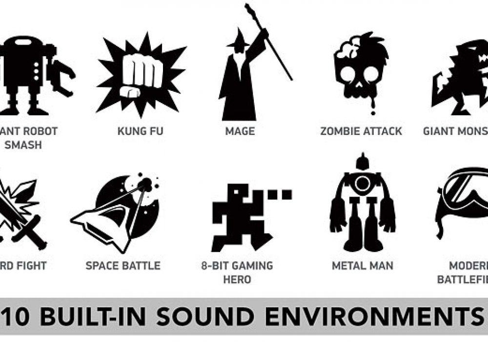 Mega Stomp Battle Audio Reality Effects Cool Geek Icons