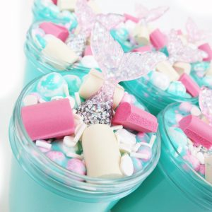 Mermaid Birthday Cake Slime (Scented) with Mermaid Charm