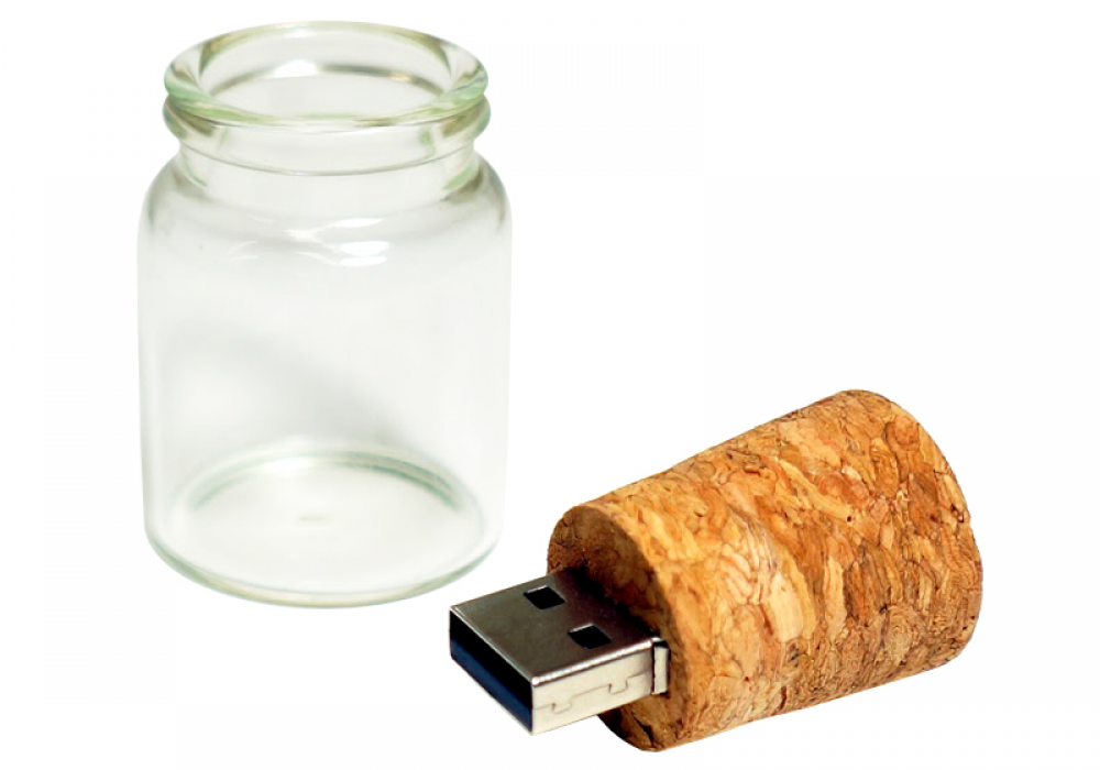 Message in a Bottle USB Flashdrive Cool Small Gift for Techy People