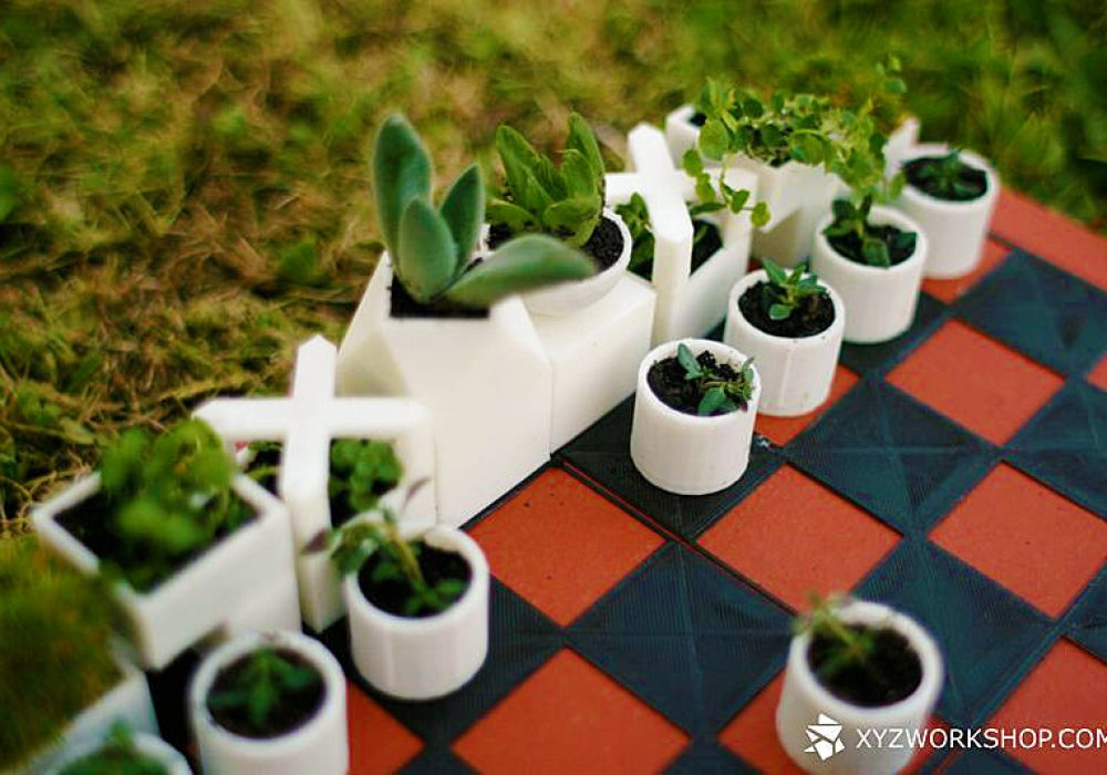 Micro Planter Chess Set Cute Game