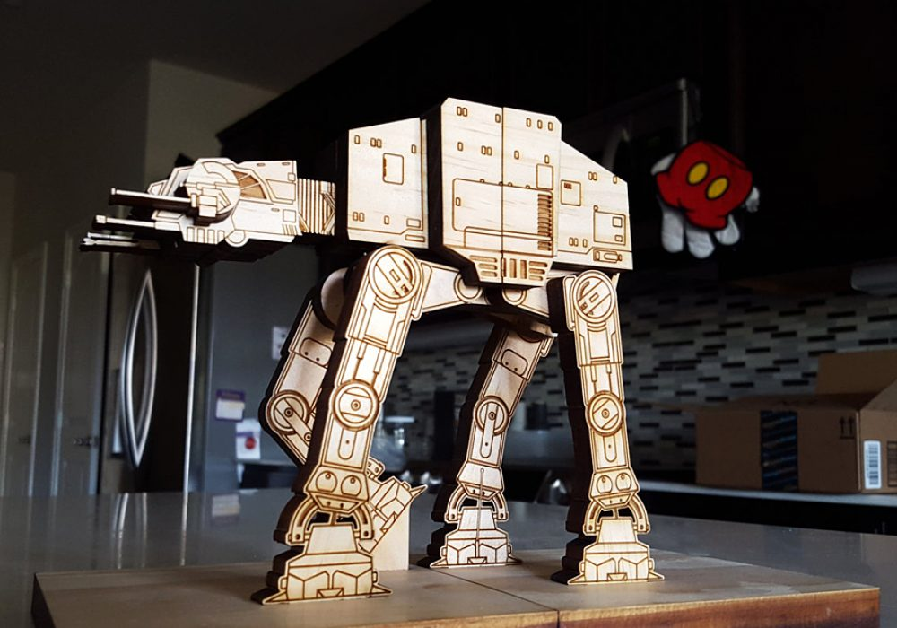 Moku Shop Star Wars AT-AT Book Ends Cool Storage