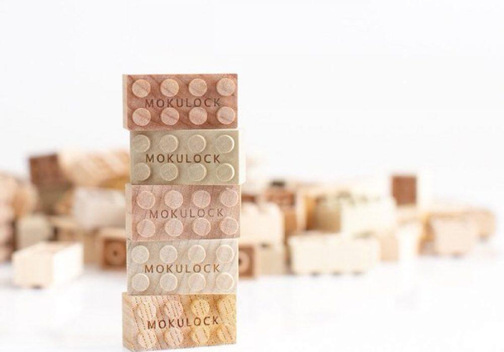 Mokulock Wooden Building Blocks Hardwood